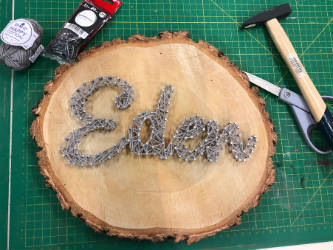 "DIY String Art ""Eden"" fini ©anaïs elie"