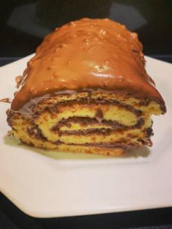 Biscuit roulé au chocolat-noisette by Cyril Lignac